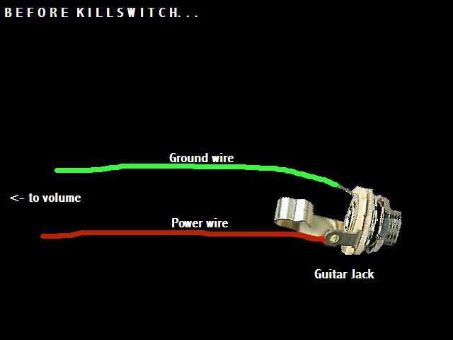 s axe hacks kill switch this is how your output jack probably looks just two wires to two lugs if you have a preamp or active pickups then there s be a third
