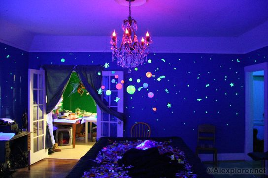 alexplorers halloween page planetarium pool room - Halloween Pool Decorations