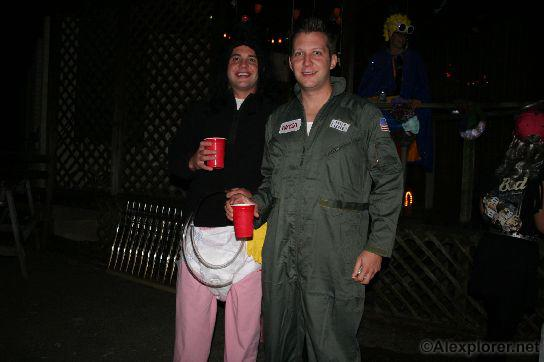 this years winning topical costume the astronaut and that crazy astronaut lady with diaper and assorted props and played by a dude